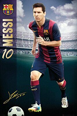 New - FC Barcelona - Sport Soccer Lionel Messi Art Poster Print 24x36