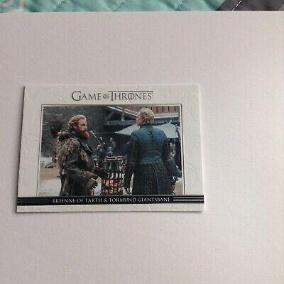 Game Of Thrones Season 7 Relationship DL50 Brienne & Tormund - New