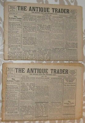 Antique Trader newspaper 1962 May&September lot of 2, complete, ships 4 free