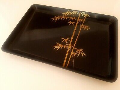 Vintage Japanese Lacquer Service Tray By Zohiko Mid Century