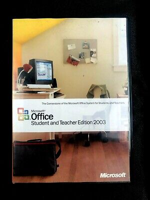 Microsoft Office Student and Teacher Edition 2003 original with Key & Free post