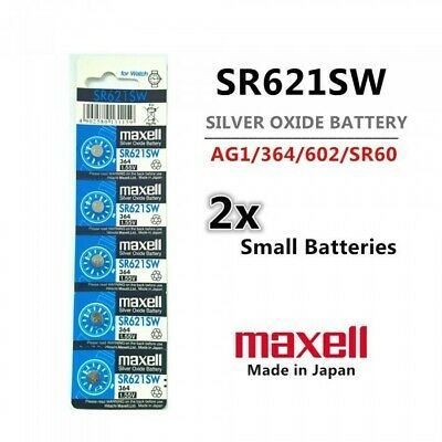 2  SR621SW/364 Button Cell Silver Oxide Battery - Free Shipping Maxell
