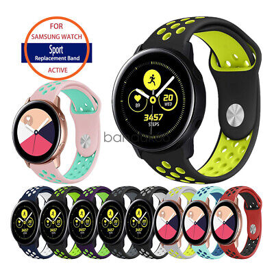 Samsung Galaxy Watch Active Band, Replacement Soft Silicone Sport Wrist  Strap