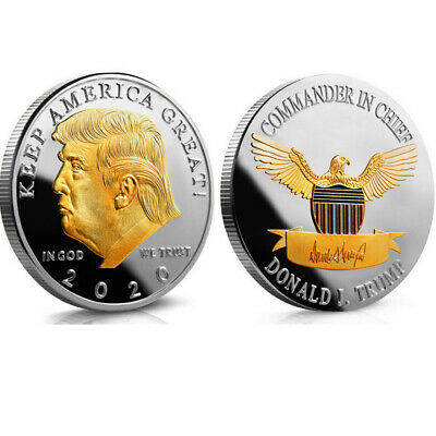 2020 President Donald Trump Gold & Silver Plated EAGLE Commemorative US Coin