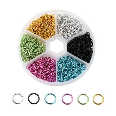 1080pcs 6mm Mixed Color Open Jump Rings Split Findings Jewelry Making Craft DIY