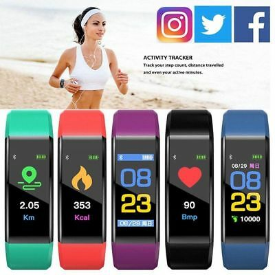 Smart Watch Bracelet Heart Rate Blood Pressure Monitor Fitness Bluetooth Tracker