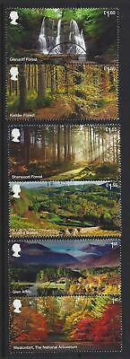 Great Britain 2019 Forests Set Of 6 In Pairs Fine Used