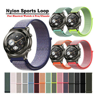 Soft Nylon Sport Loop Watch Band Strap For Huawei Watch 2 Pro Classic Wristband