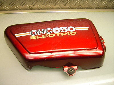 Yamaha Xs650 447 Seitendeckel Rechts Original Brilliant Red Right Side Cover