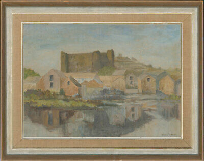 Doris V. Price - Signed & Framed 20th Century Oil, Castle by a River
