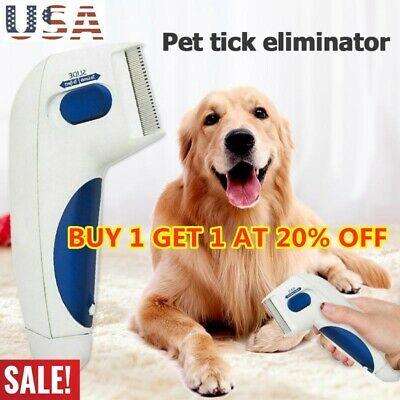 Flea Electric Flea Comb-Great for Dogs &amp Cats Pet Brush Anti Tick Control