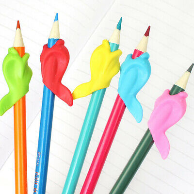 3~5pcs Pencil Grip Tool Soft Rubber Pen For Kid Handwriting Aid Useful