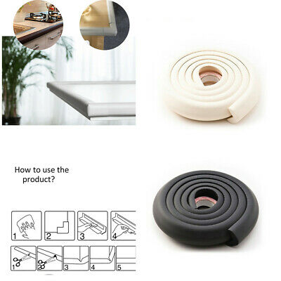 1x Kids Softy Safety Table Corner Softener Edge Cushion Strip Guard Protector 2M