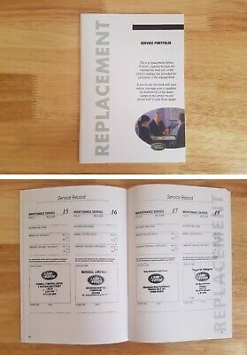 Land Rover & Range Rover~Freelander Discovery Service History Book New (Stamped)
