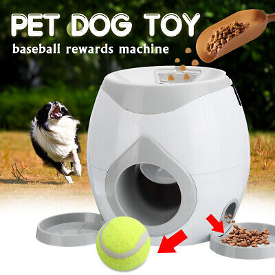 Automatic Dog Ball Fetch Tennis Thrower Roller Hyper Training Game Toy Outdoor