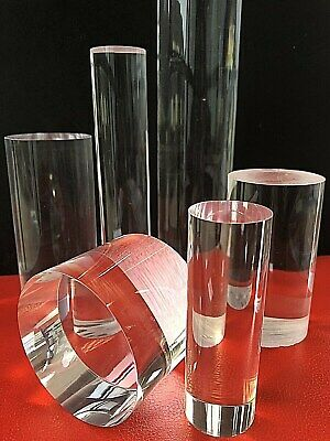 ACRYLIC PERSPEX ROUND SOLID BAR ROD CAST CLEAR  - 65mm 50mm 30mm DIAMETER - NEW