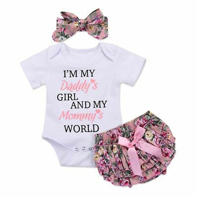 Newborn Infant Romper Jumpsuit DADDY Letters Printed Baby Girls Outfit Bodysuit
