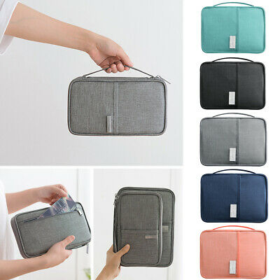 Travel Passport Holder Wallet Family Document ID Card Organizer Bag Case Cover