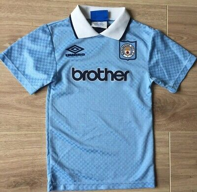 Manchester City Football Shirt Home Kit Umbro Brother 90s Prototype Unknown