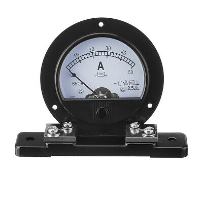 62C2 Round Analog Amp Panel Meter Current Ammeter DC 0-50A With Shunt