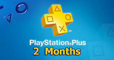 2 Months PlayStation PS Plus PSN PS4-PS3 -Vita (NO CODE) Read Description