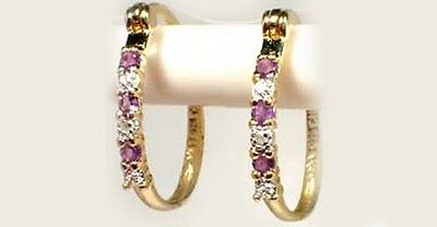 Diamond Accent Russia Amethyst 18kt Gold on Sterling Empress Catherine the Great