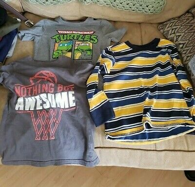 Mixed Lot of Boys Clothes - Size 5 & 5T - 8 Pieces  *NEW* Name Brand