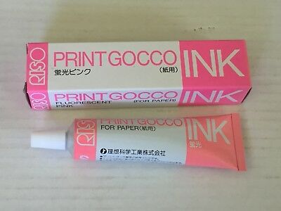 NEW FLUORESCENT PINK - RISO Print Gocco Hi mesh INK for paper Screen printer