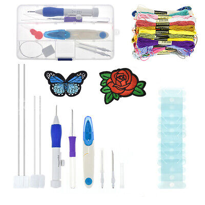 DIY Embroidery Pen Stitching Punch Needle Kits Knitting Sewing Tool Set 2 Choice