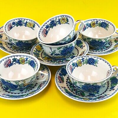 MASONS Ironstone REGENCY Plantation Colonial  Squat 6 Cups and 5 Saucers
