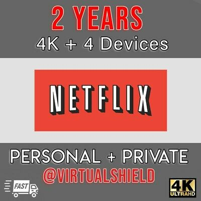 Netflix Gift & Warranty: 4K UltraHD | 4 Screens | 24 Months | 100%. Cheap [Fast]