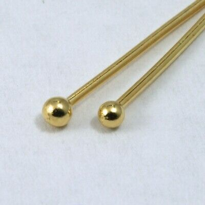 """1.5"""" 24 Gauge Gold Filled Head Pin with Ball #BGE014"""