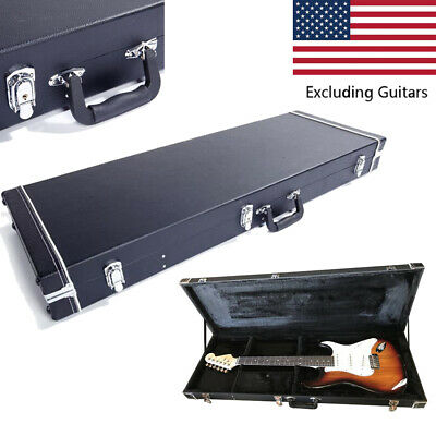 Electric Guitar Hard Square Case Stratocaster Telecaster Guitars With Lock Black