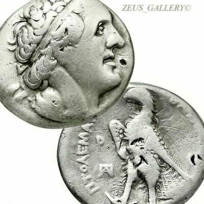PTOLEMY I Delta Master Δ Signed Ancient Greek Silver Tetradrachm Coin Alexandria