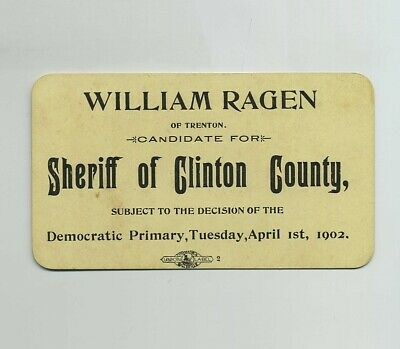 Vintage 1902 Political Election Card William Ragen Clinton County IL wz6003