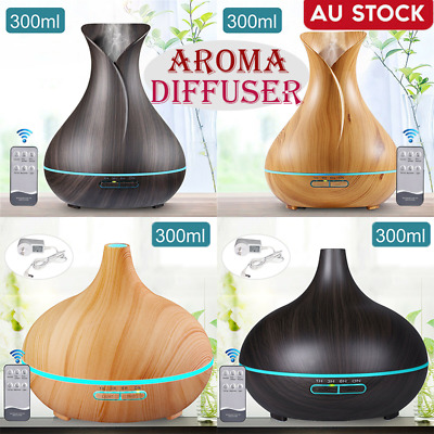 Aroma Aromatherapy Diffuser Essential Oil Ultrasonic Air Humidifier Purifier LED