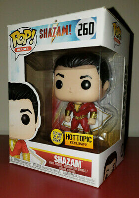 Funko Pop Movies Hot Topic Exclusive Glow in the Dark Shazam GITD - #260