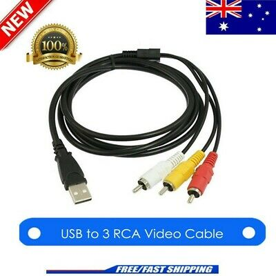 3 RCA to USB Aux Audio Video Adapter AV Converter Cable Cord For TV/Mac/PC AU