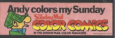 The Sunday Mail (Brisbane) ANDY CAPP STICKER 1980'S