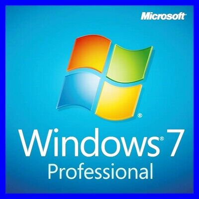 Windows 7 Pro Professional Vollversion 32 & 64 Bit Produktschlüssel Win 7 Key