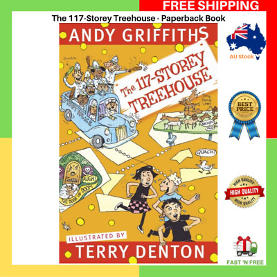 BRAND NEW The 117-Storey Treehouse | Andy Griffiths Paperback Book Free Shipping
