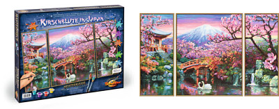 "Schipper 609260751"" Cherry Blooming In Japan Painting By Numbers Craft Set"