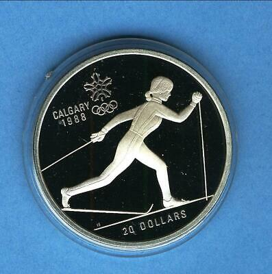 20 can-$ Oly Calgary 1988 Langlauf 1 Unze Silber