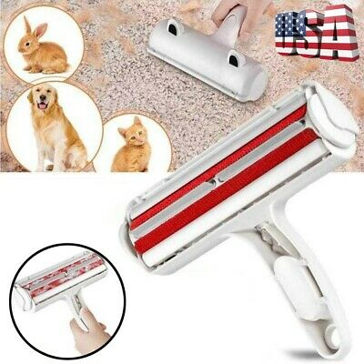 Pet Dog Cat Hair Remover Fur Roller Sofa Clothes Cleaning Brush Reusable US FAST