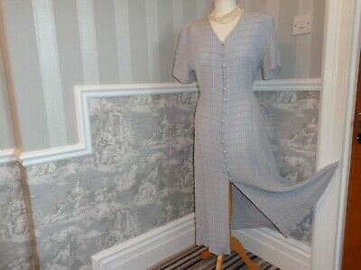 Vintage Pale Blue 1930S 1940S 50S Style Tea Dance Wwii Dress Size 16 Goodwood