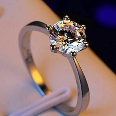 Austrian Crystal Rose Gold Cz Ring Cubic Wedding Colour Zirconia Flower Plated