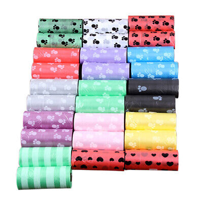 5 Roll Degradable Pet Waste Poop Bags Dog Cat Clean Up Refill Garbage bag