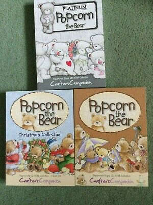 Popcorn the bear cd-roms Crafters companion