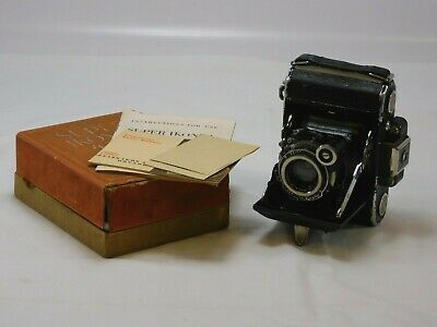 Vintage ZEISS IKON SUPER IKONTA Folding Camera - BOXED with INSTRUCTIONS