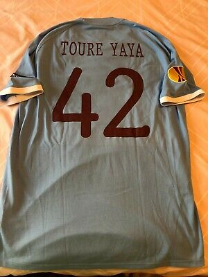 Manchester City 2010-11 player issue home shirt - Yaya Toure - Europa League